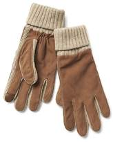 Suede knit smartphone gloves