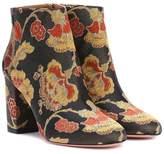 Aquazzura Brooklyn 85 jacquard ankle boots
