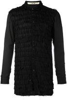 Damir Doma layered frayed shirt - men - Cupro/Viscose - S