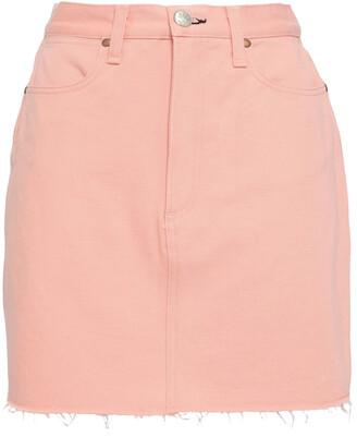 Rag & Bone Two-tone Denim Mini Skirt