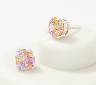 Diamonique Tie-Dye Multi-Color Stone Studs, Sterling Silver
