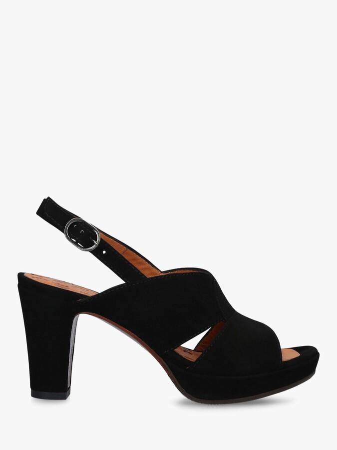 Chie Mihara Eskol 36 Block Heel Platform Sandals, Black