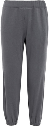 Stateside Cropped French Cotton-terry Track Pants