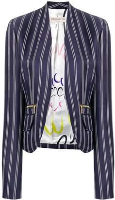 Emilio Pucci Pinstriped Open Front Blazer