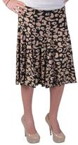 Journee Collection Women's Flowing Knit Print Flare Skirt