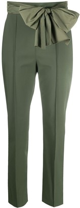 Elisabetta Franchi Cropped Bow Detail Trousers