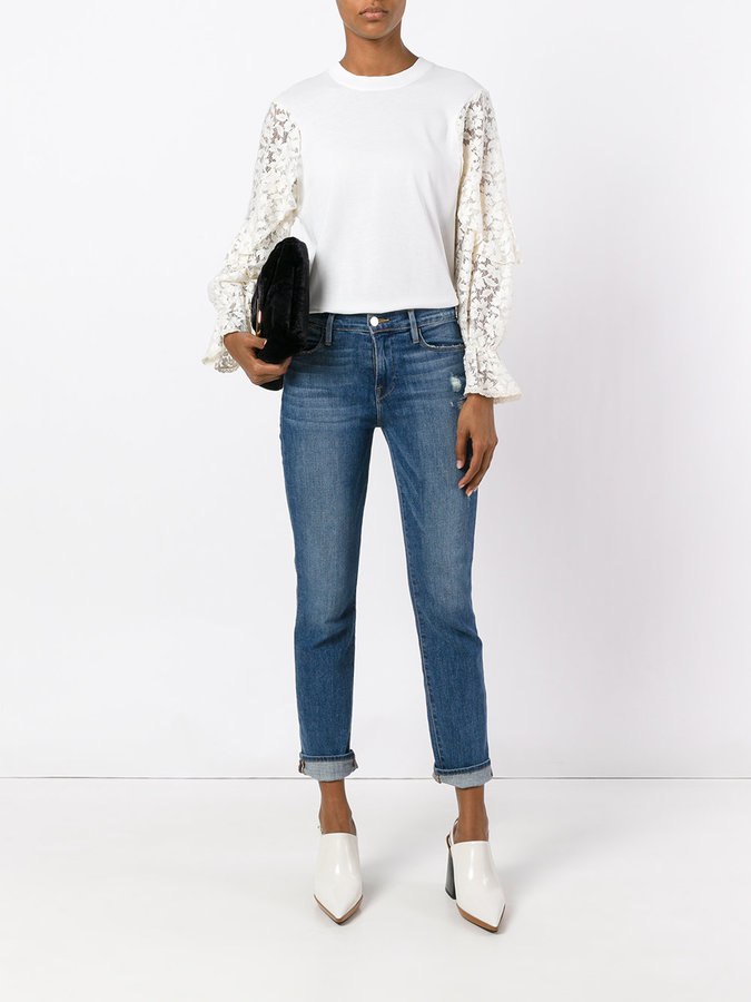 See by Chloe lace sleeve sweater