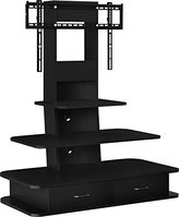 """Altra Furniture Galaxy TV Stand with Mount & Drawers, 70"""", Black"""