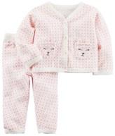 Carter's Baby Girl Little Bear Sweater & Bottoms Set