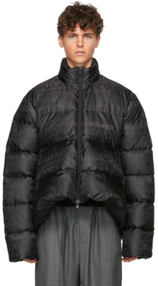 Balenciaga Black Quilted Technical Faille C-Shape Jacket