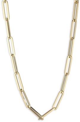 Saks Fifth Avenue Made In Italy 14K Yellow Gold Paperclip Chain Necklace
