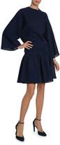 Givenchy Sculpted-Shoulder Scuba Jersey Top