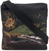 Etro lake print messenger bag