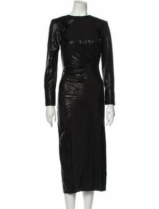 Lake Studio Bateau Neckline Long Dress Black