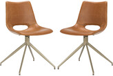 Safavieh Danube Midcentury Modern Leather Swivel Dining Chair