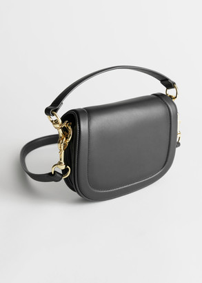 And other stories Duo Strap Leather Saddle Bag