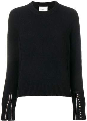 3.1 Phillip Lim Embellished-Cuff Pullover