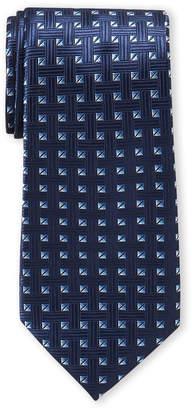 Ike Behar Ike By Navy Nettle Pattern Tie