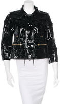 Gucci Patent Leather Cropped Jacket