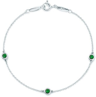 Tiffany & Co. Elsa Peretti Color by the Yard bracelet in sterling silver with tsavorites