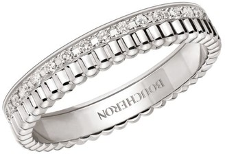 Boucheron Quatre Radiant Edition 18K White Gold & Diamond Wedding Ring