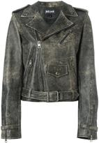Just Cavalli back print biker jacket