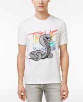 True Religion Men's Cobras Tour Embroidered Graphic-Print Logo Cotton T-Shirt
