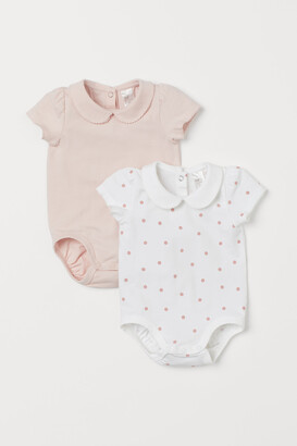 H&M 2-Pack Bodysuits With A Collar