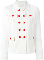 Tory Burch double breasted blazer - women - Cotton/Polyester/Spandex/Elastane/Viscose - 2