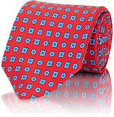 Isaia Men's Floral-Medallion Necktie-RED