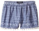 Toobydoo Chambray Pom Pom Shorts Girl's Shorts