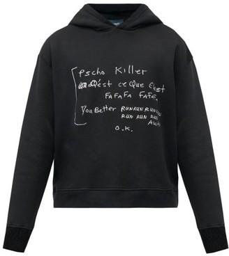 Lost Daze - Psycho Killer Printed Hooded Sweatshirt - Black