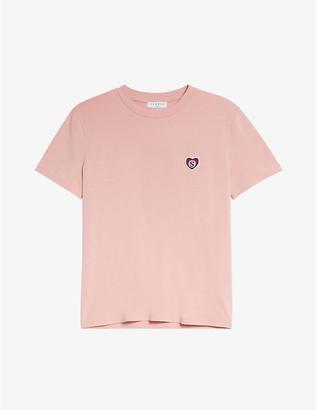 Sandro Camy logo-embossed cotton T-shirt