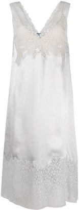 Prada Lace-Detail Sleeveless Midi-Dress