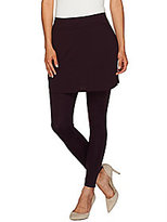 Legacy As Is Ponte Knit Solid Ankle Length Skirted Leggings