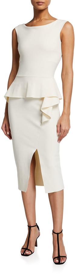 Chiara Boni Bronte Sleeveless Peplum Sheath Dress
