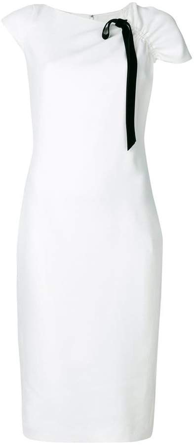 Lanvin contrast trim sheath dress