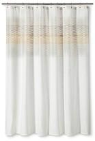 Threshold Stitched Shower Curtain
