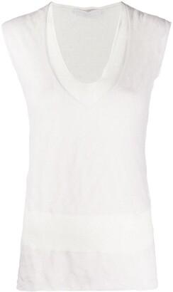 Fabiana Filippi crinkled effect V-neck vest top