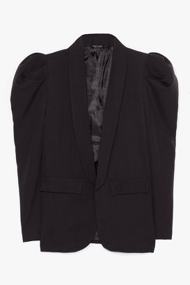 Nasty Gal Womens Nice to Meet You Puff Sleeve Blazer - Black