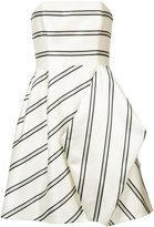 Halston striped party dress - women - Polyester - 12