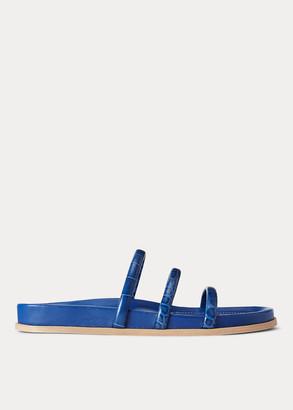 Ralph Lauren Leather Slide Sandal