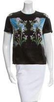 Preen Floral Print Silk Top