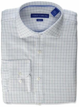 Vince Camuto Men's Slim Fit Spread Collar Fashion Dress Shirt