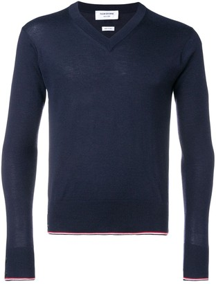 Thom Browne Classic Cashmere V-neck Pullover