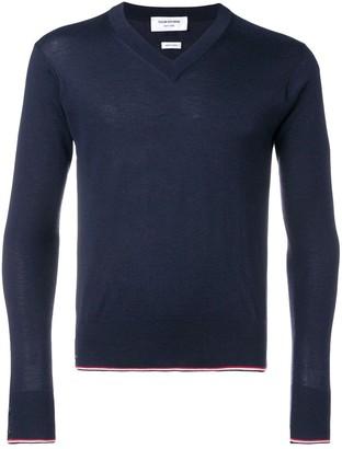 Thom Browne Classic Cashmere V-neck Pullover