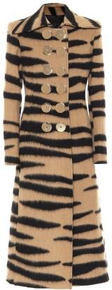 Paco Rabanne Animal-print wool-blend coat