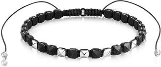 Thomas Sabo Blackened Sterling Silver and Onyx Studded Choker
