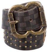Just Cavalli Embellished Leather Belt