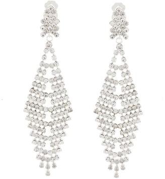Susan Caplan Vintage 1990s Vintage Chandelier Drop Clip-on Earrings
